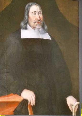 Vem var Johan Börjessons (1606-1676) mor? Tavlan hänger i Sunnemo kyrka.