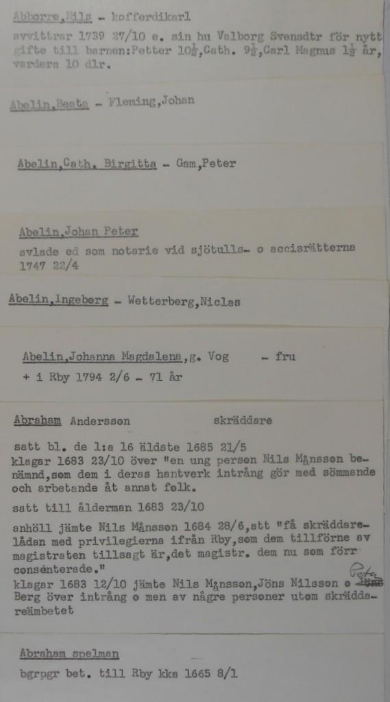 Kortregister för Karlskrona
