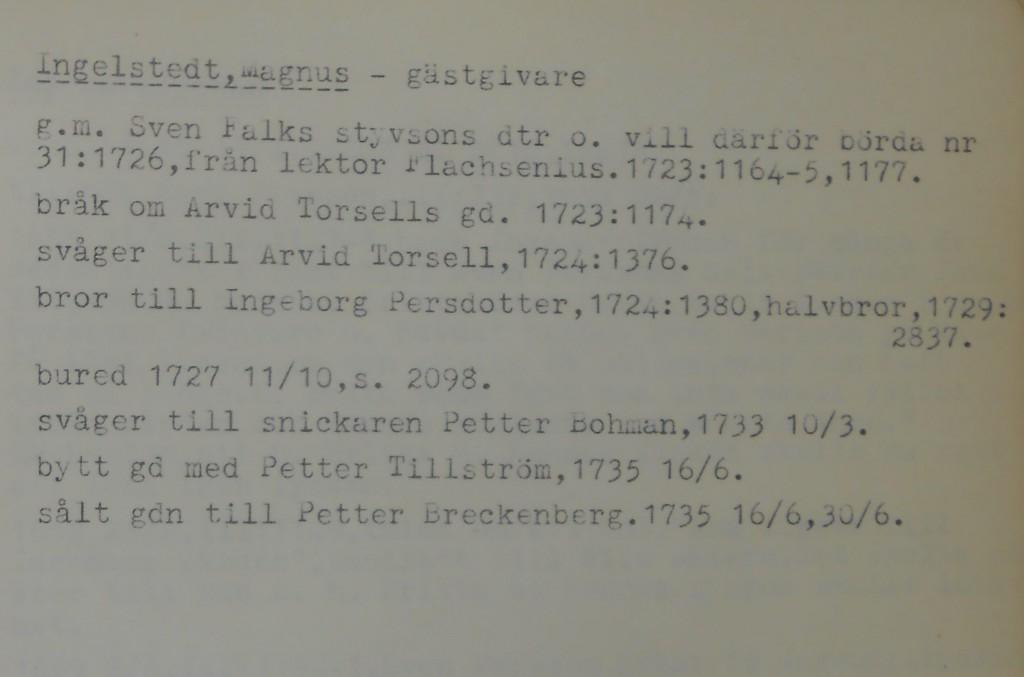 Information om Magnus Ingelstedt i Växjö