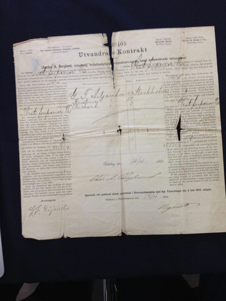 Utvandrarkontrakt - Contract of Emigration